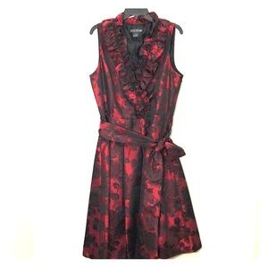 Jessica Howard Women's Ruffle Neck-Wrap Dress